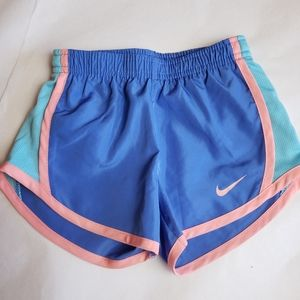 Nike Dri-fit Shorts Girl's 2T Blue/Pink